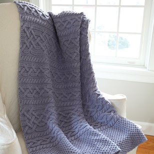 584 Thaw Cabled Blanket