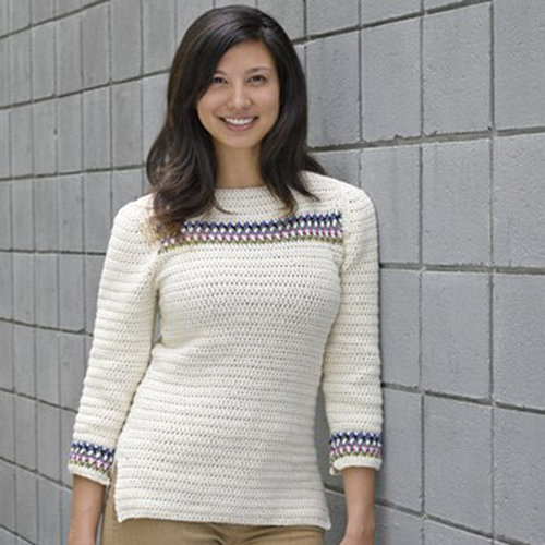 View larger image of 618 Banded Yoke Pullover