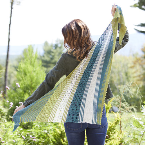 View larger image of 828 Lace Colorwork Shawl