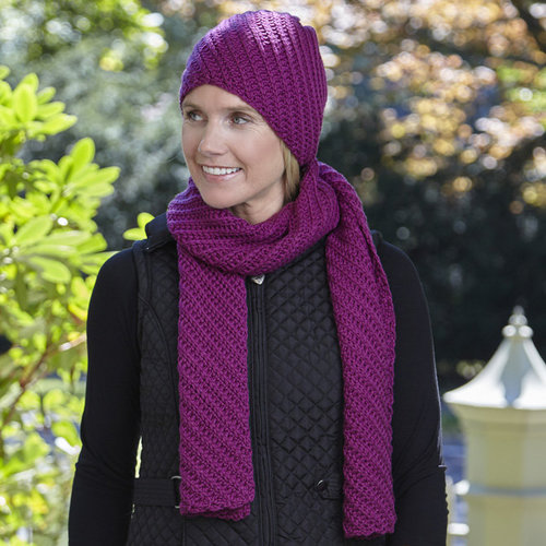View larger image of WEBS DIR10 Superwash Scarf and Hat by Doris Chan