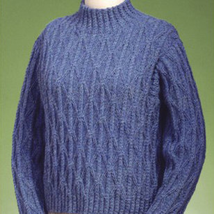 122 Twisted Cable And Diamond Turtleneck PDF