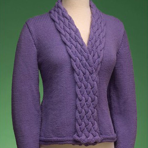 View larger image of 163 Cable Collar Cardigan PDF