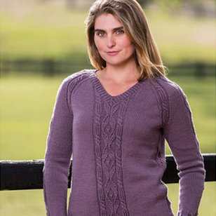 Top-Down Cable and Diamond Pullover PDF