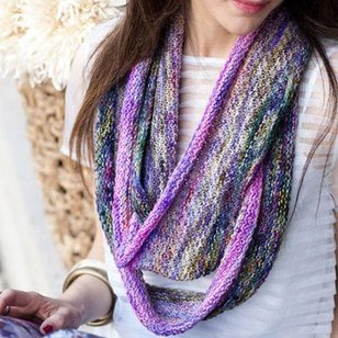 Purple and Pink Extra Long Cowl (Free)