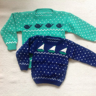5 Child's Sailboat & Whale Sweaters PDF